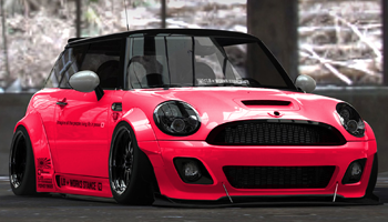 Mini works liberty walk special edition body kit